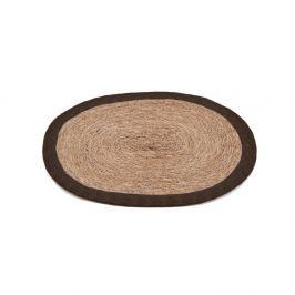 Jute tányéralátét barna szegéllyel, 35 x 45 cm - Moycor