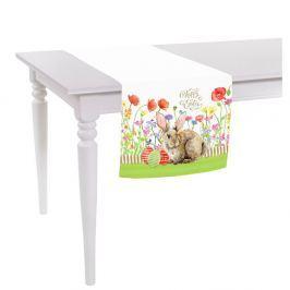 Easter Eggs With Rabbit asztali futó, 10 x 140 cm - Apolena