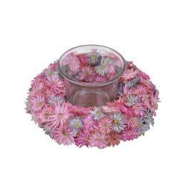 Gyertyatartó rózsakoszorúval, ⌀ 12 cm - Ego Dekor