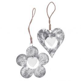 Szív és virág formájú függő dekoráció, ⌀ 11 cm - Ego Dekor