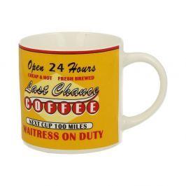 Coffee sárga porcelán bögre, 430 ml - Duo Gift