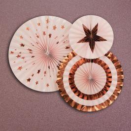 Glitz & Glamour 3 darab rózsaszín dekoráció - Neviti