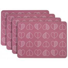 Outline rózsaszín parafa tányéralátét szett, 4 db-os - Navigate