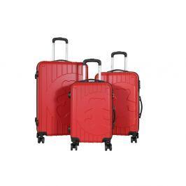 Philip 3 darabos piros bőrönd készlet - LULU CASTAGNETTE