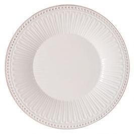 Cooking fehér agyag tányér, Ø 25 x 3 cm - Clayre & Eef