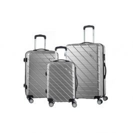 Americano 3 darabos szürke gurulós bőrönd készlet - Murano
