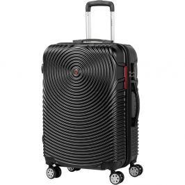 Traveller fekete kerekes bőrönd, 65 x 40 cm - Murano