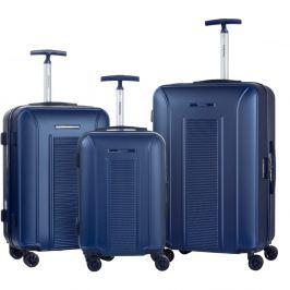 Africa 3 darabos kék gurulós bőrönd készlet - Murano