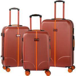 Greece 3 darabos piros gurulós bőrönd készlet - Murano