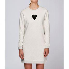 Krémszínű női sportos ruha Lena Brauner & IM Cyber Együtt motívumával, méret: M - KLOKART