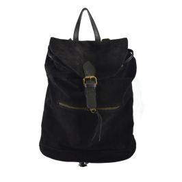 Georgia fekete bőr hátizsák - Chicca Borse