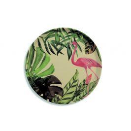 Tropical flamingó mintás bambusz tányér, 31,8 cm - Villa d'Este