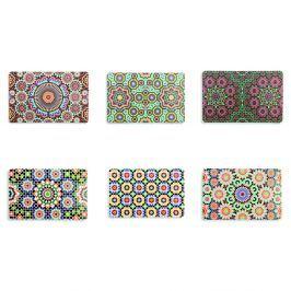 Marrakech 6 darabos műanyag tányéralátét készlet - Villa d'Este