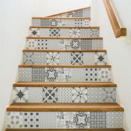 Romantic Grey 2 részes matricaszett lépcsőre, 105 x 15 cm - Ambiance