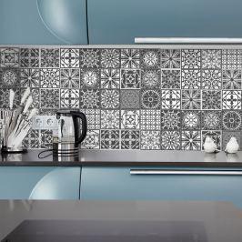 Nello 24 részes dekoratív falimatrica szett, 10 x 10 cm - Ambiance
