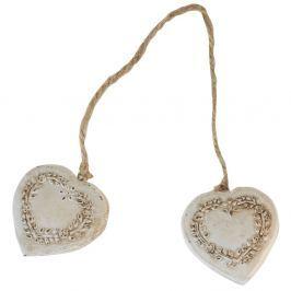 Double Heart dekoráció - Antic Line