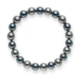 Mystic antracitezüst gyöngy karkötő, hossz 19 cm - Pearls of London