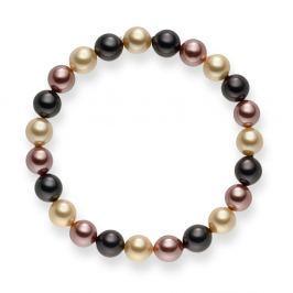 Mystic barna gyöngy karkötő, hossz 19 cm - Pearls of London