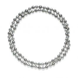 Mystic ezüstösszürke gyöngy nyaklánc, 90 cm - Pearls of London