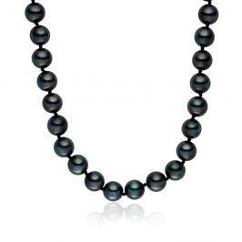 Mystic sötétszürke gyöngy nyaklánc, 45 cm - Pearls of London