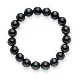 Mystic sötétszürke gyöngy karkötő, hossz 19 cm - Pearls of London
