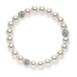 White Lady gyöngy karkötő, hossz 19 cm - Pearls of London