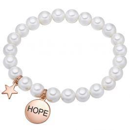 Hope fehér gyöngy karkötő, hossz 19 cm - Pearls of London
