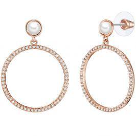 Juno gyöngy fülbevaló cirkónia kristállyal - Pearls of London