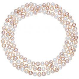 Chakra Pearls fehér-rózsaszín gyöngy nyaklánc, 90 cm - The Pacific Pearl Company