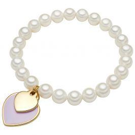 Ula fehér gyöngy karkötő, ⌀ 0,8 x hossz 19 cm - Perldesse