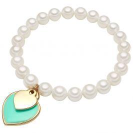 Are fehér gyöngy karkötő, ⌀ 0,8 x hossz 19 cm - Perldesse