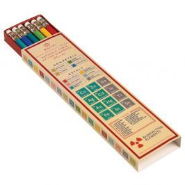Periodic Table színes ceruzakészlet kartondobozban, 6 darabos - Rex London