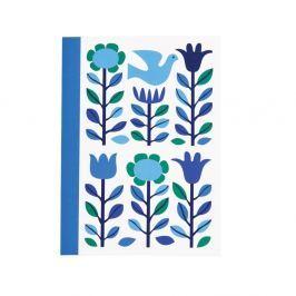 Folk Dove kék jegyzetfüzet, A5-ös formátumú - Rex London