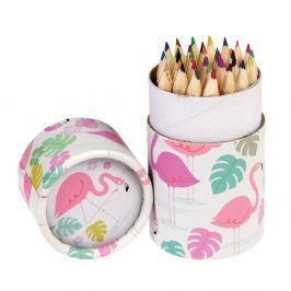 Flamingo Bay színes ceruzakészlet díszcsőben, 36 darabos - Rex London