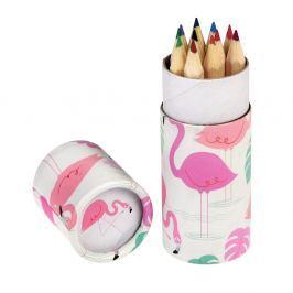 Flamingo Bay színes ceruzakészlet díszcsőben, 12 darabos - Rex London