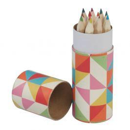 Multicolour Geometric színes ceruzakészlet, 12 darabos - Rex London