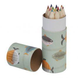 Let's Go Fishing színes ceruzakészlet, 12 darabos - Rex London