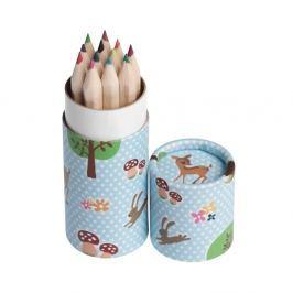 Woodland mini színes ceruzakészlet, 12 darabos - Rex London