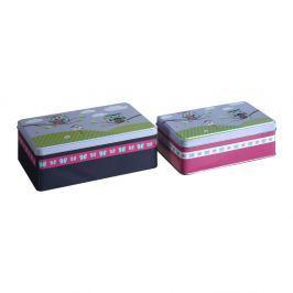 Happy Owls ón tárolódoboz készlet, 2 részes, 13 x 20 cm - Premier Housewares
