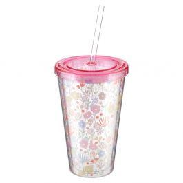 Casey halvány rózsaszín pohár szívószállal, 450 ml - Premier Housewares
