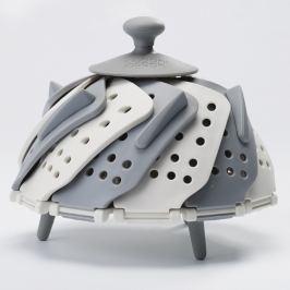 Lotus Plus szürkés-fehér párolóbetét, ⌀ 26 cm - Joseph Joseph