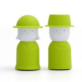 Mr.Pepper & Mrs. Salt zöld só és bors-tartó - Qualy&CO