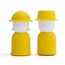 Mr.Pepper & Mrs. Salt sárga só és bors-tartó - Qualy&CO