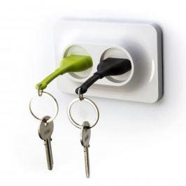 Double Unplug fogas zöld és fekete kulcstartóval - Qualy&CO