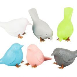 Mini Sparrow Pastel 6 darabos madár formájú mágnes szett - Qualy&CO