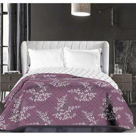 Hypnosis Calluna lila-krémszínű kétoldalas mikroszálas ágytakaró, 220 x 240 cm - DecoKing
