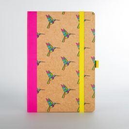 Origami kolibrimintás jegyzetfüzet - Just Mustard