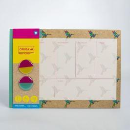 Origami heti tervező - Just Mustard