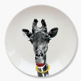Giraffe kerámia tányér - Just Mustard