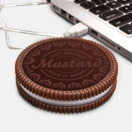 Cookie USB italmelegítő LED kontroll-lámpával - Just Mustard